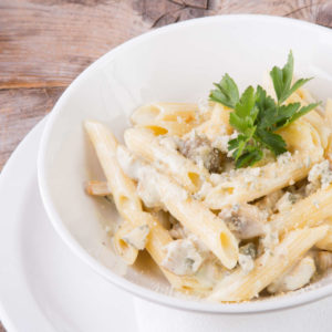 Penne 4 fromages et champignons