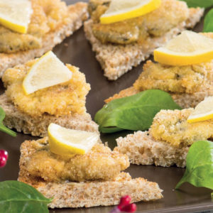 Toasts met oesters