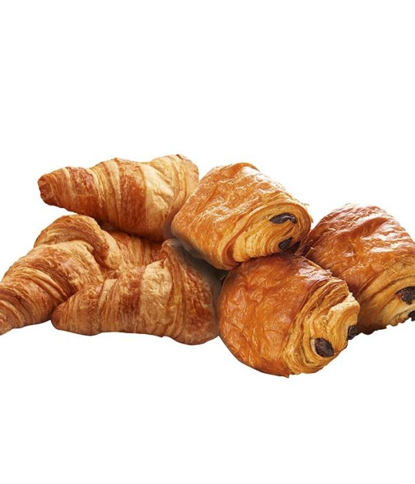 Chocoladekoeken of croissants
