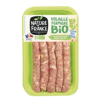 Bio pack nature de france saucisse de volaille
