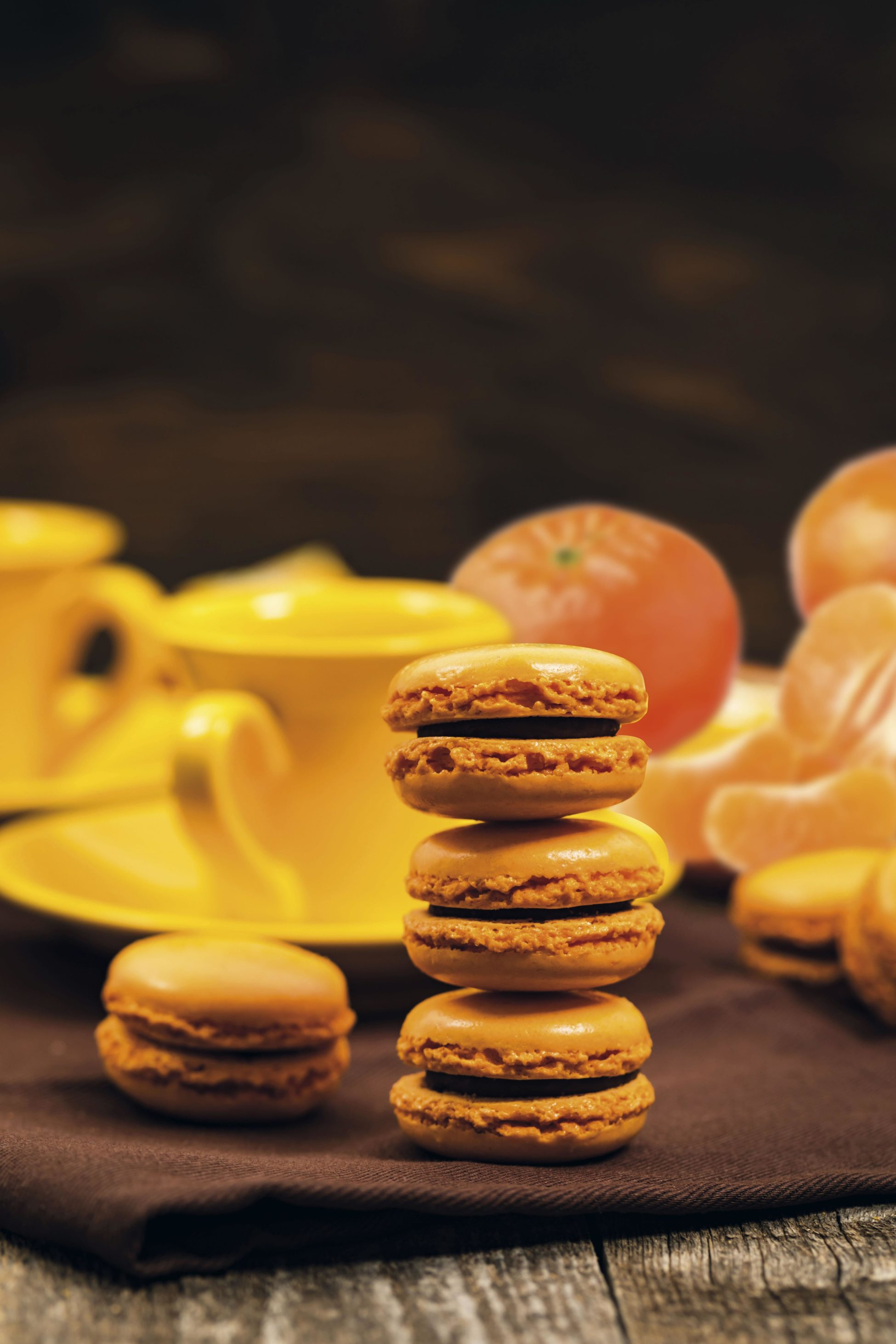 recette Macarons clementine-chocolade
